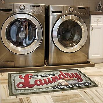 Ustide Floor Rug For Laundry Room Nonslip Rubber Backer Mat Floor Runner  Durable Cheap Carpet Waterproof