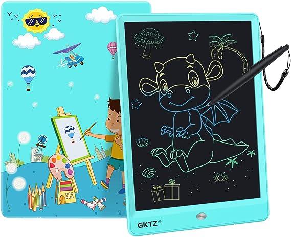 GKTZ LCDライティングタブレット 子供用 電子お絵かきパッド 落書きと落書きボード 男の子 女の子 学習 手書きペイント ノートボード 3歳以上の子供向けギフト ブルー