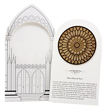 Ebros Gift French Gothic Architecture Notre Dame De Paris Rose Window Ornament 275quotDiameter
