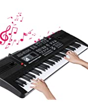 Electronic Keyboard 61 Key Portable Music Piano Keyboard with Microphone Interactive Teaching Piano Keyboard