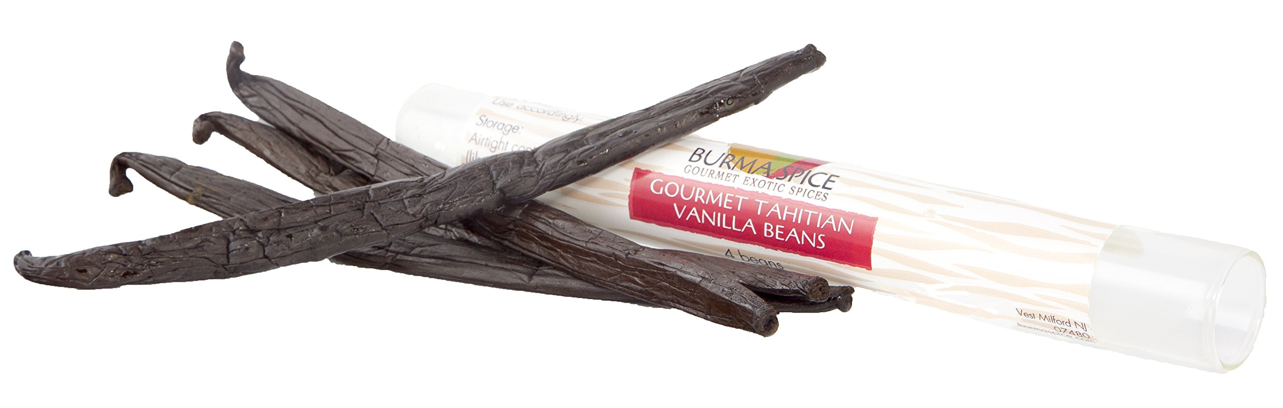 Tahitian Vanilla Beans (4), Authentic from Tahiti, not PNG. Award Winning.