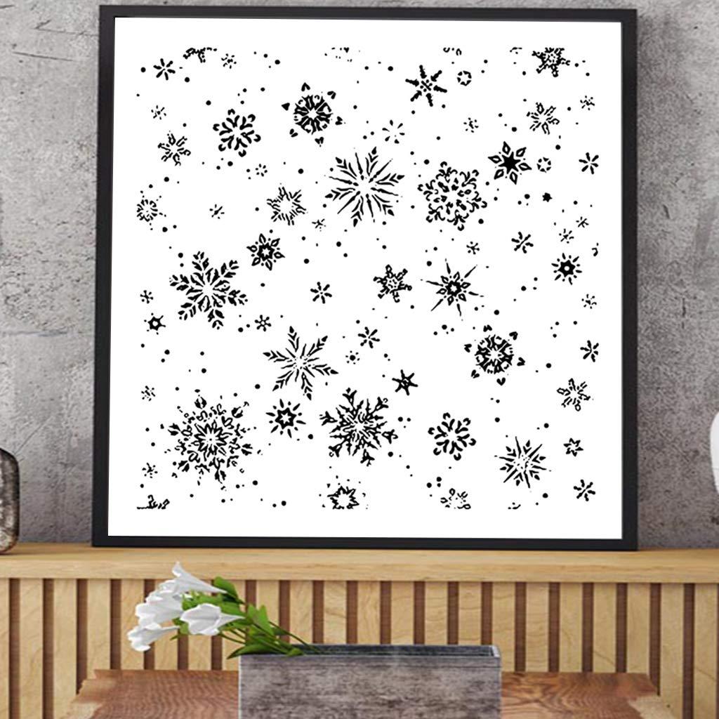 Luluspace per decorare album di ritagli Timbro trasparente in silicone a forma di fiocco di neve fai da te