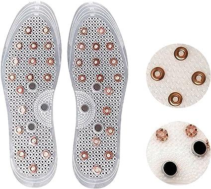 Copper Magnetic Shoe Insole Insoles Acupressure Reduce Foot Massage Deodorizing