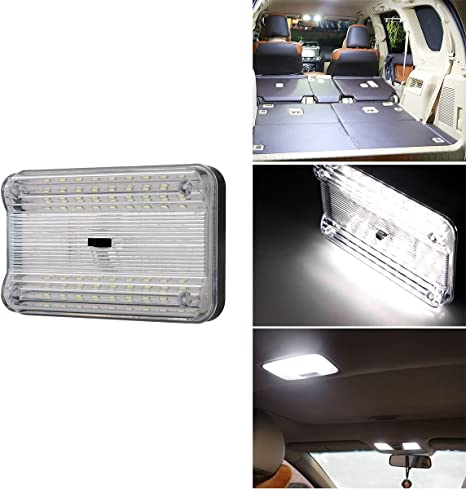 Universal Car Ceiling Dome Roof Interior  LED  Rectangle Light Reading Lights