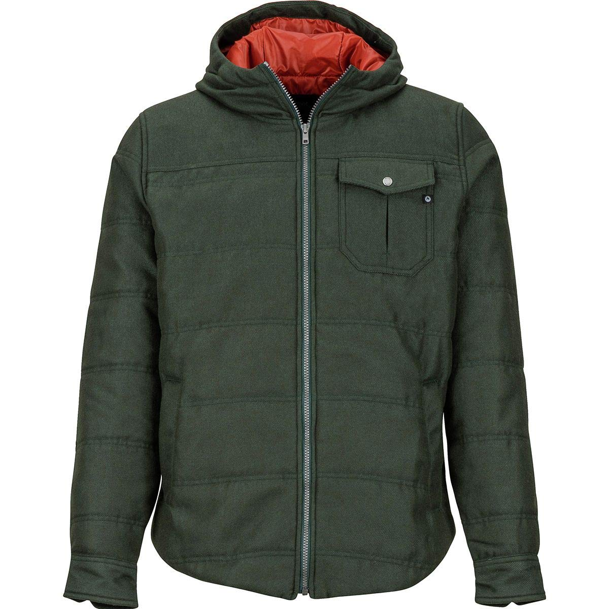 Marmot Banyons Insulated Hooded Jacket L Mens Dark Spruce