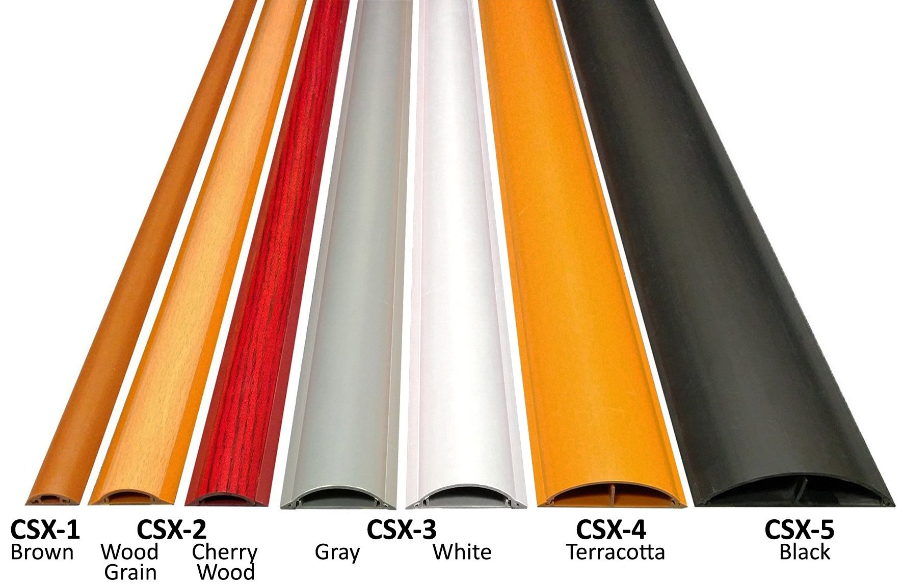 Cable Shield Cord Cover - Model: CSX-2 - Length: 59'' - Color: Wood Grain - 2 Pack