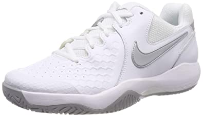 newest 56d5e eaace Nike Wmnsair Zoom Resistance, Sneakers Basses Femme, Multicolore  (White Metallic Silver