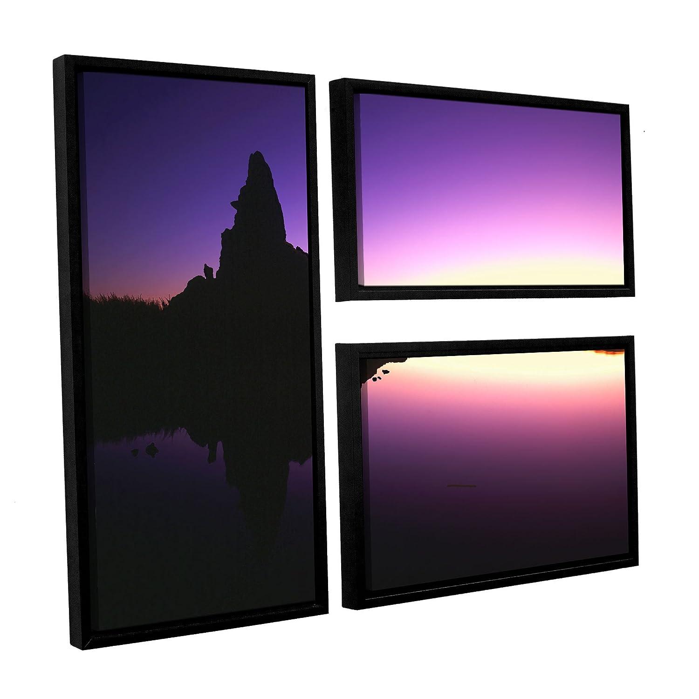 ArtWall Dean Uhlinger 3 Piece Mono Lake Dawn Floater Framed Canvas Flag Set 36 by 48