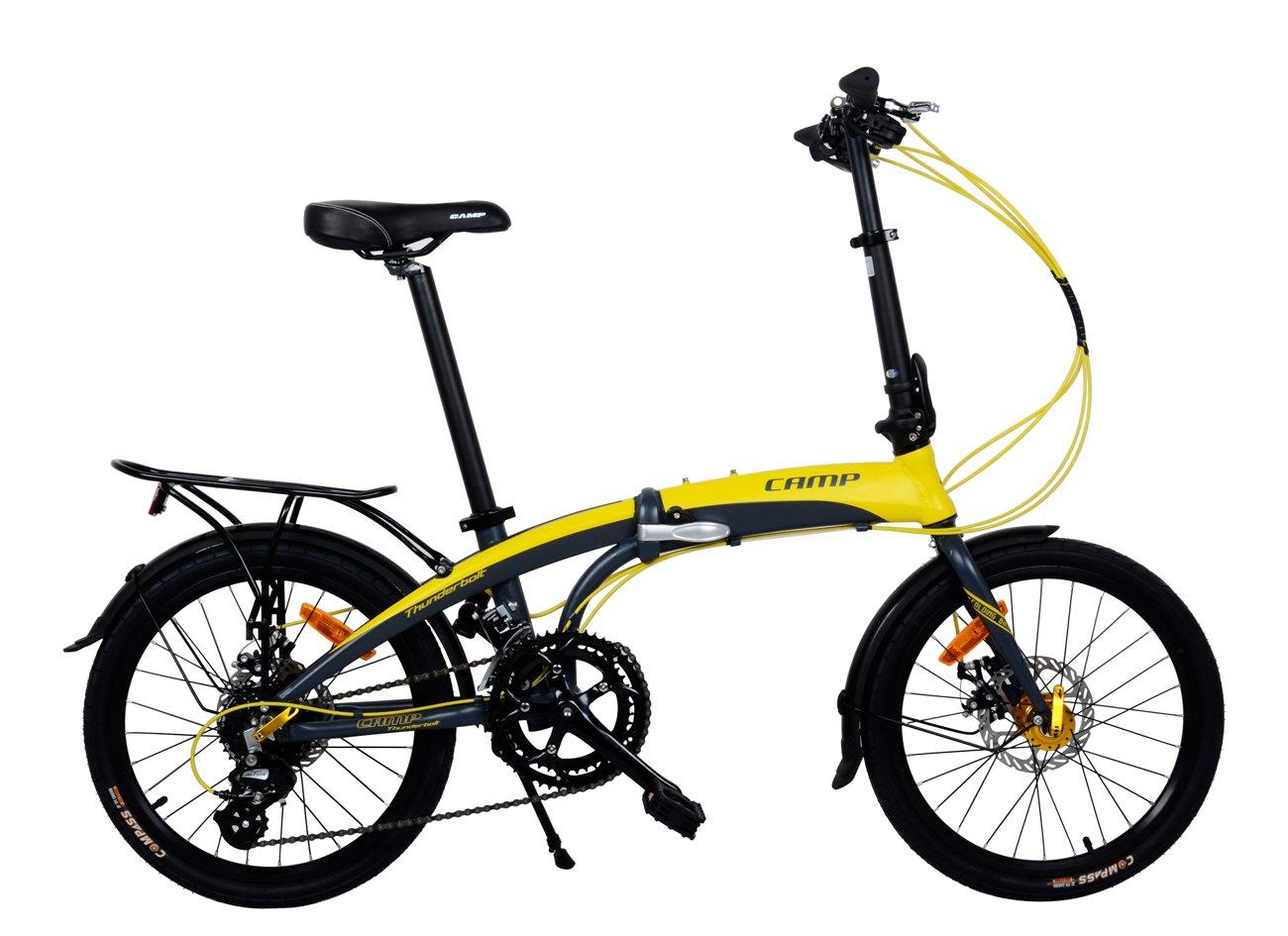 Camp 20'' Folding Bike Shimano 16 Speed, Thunderbolt
