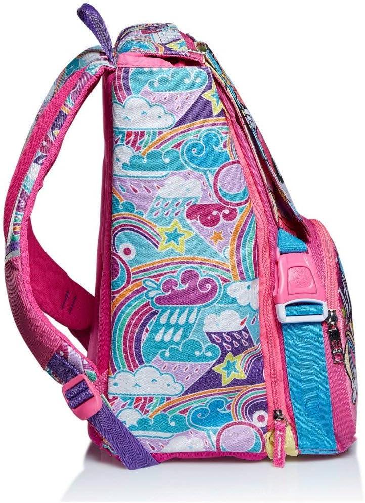 Animali da SJ Girl Zaino Sdoppiabile Schoolpack Astuccio 3 Zip