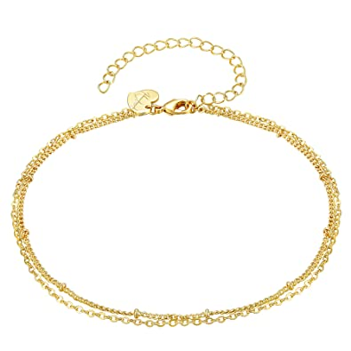 Anklet Ankle Bracelet Gold Plated Pendant Of Your Choice Fine Anklets Fine Jewelry