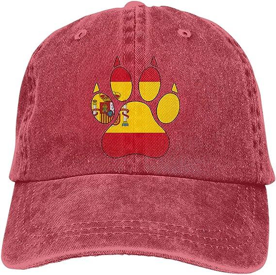KLING Gorra de béisbol para Hombre y para Mujer, Algodón con Pata de Perro con Bandera de España: Amazon.es: Ropa y accesorios
