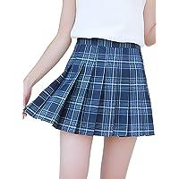 N /C Women Tennis Pleated Mini Skirt School Girl Skater Skirt Shorts Hight Waist Dresses