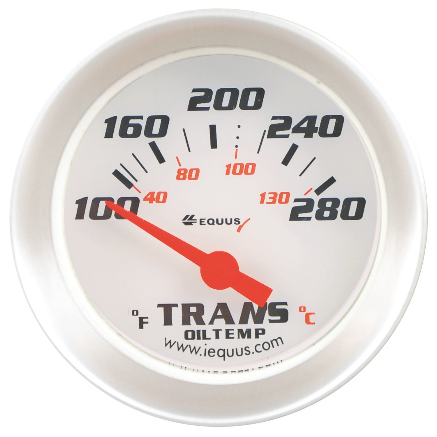 Equus 8241 2'' Transmission Temperature Gauge with Multi Color Back Light by Equus