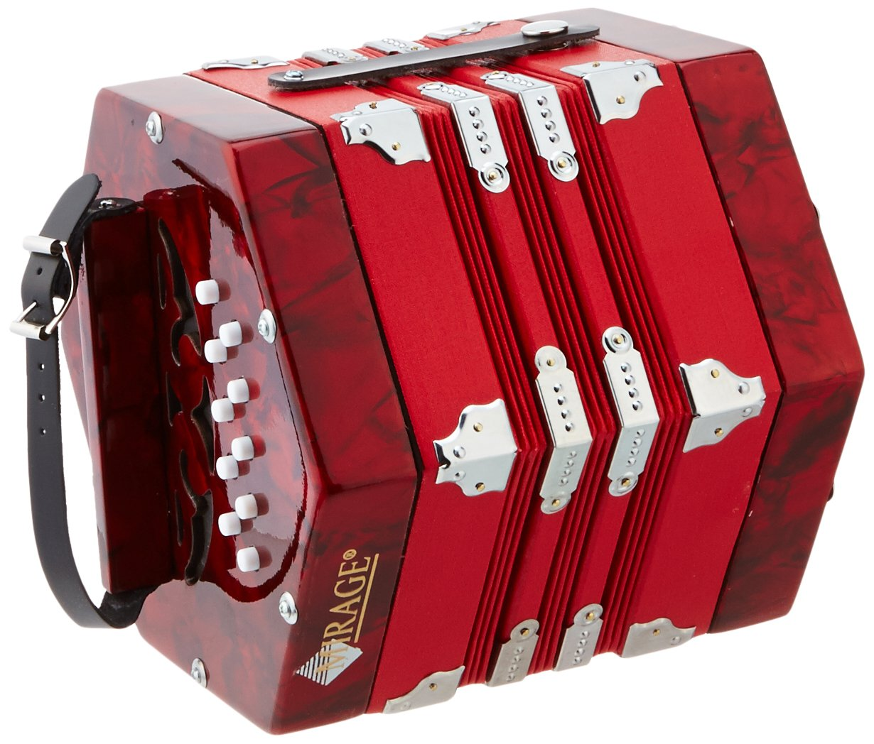 Mirage C7001 20-Button 40-Reed Concertina Accordion M & M Merchandisers Inc
