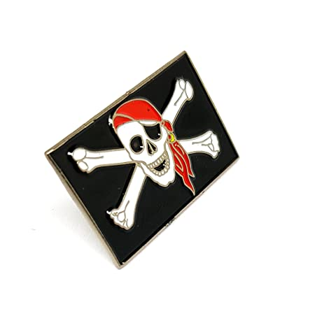 White Skull and Crossbones Pirate Quality Enamel Pin Badge