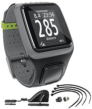 TomTom Multi-Sport - Reloj deportivo GPS (para atletismo, ciclismo y natación), color negro
