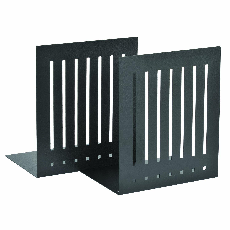 STEELMASTER Heavy Duty 10-Inch Steel Bookends, 1 Pair, Black (241100004)
