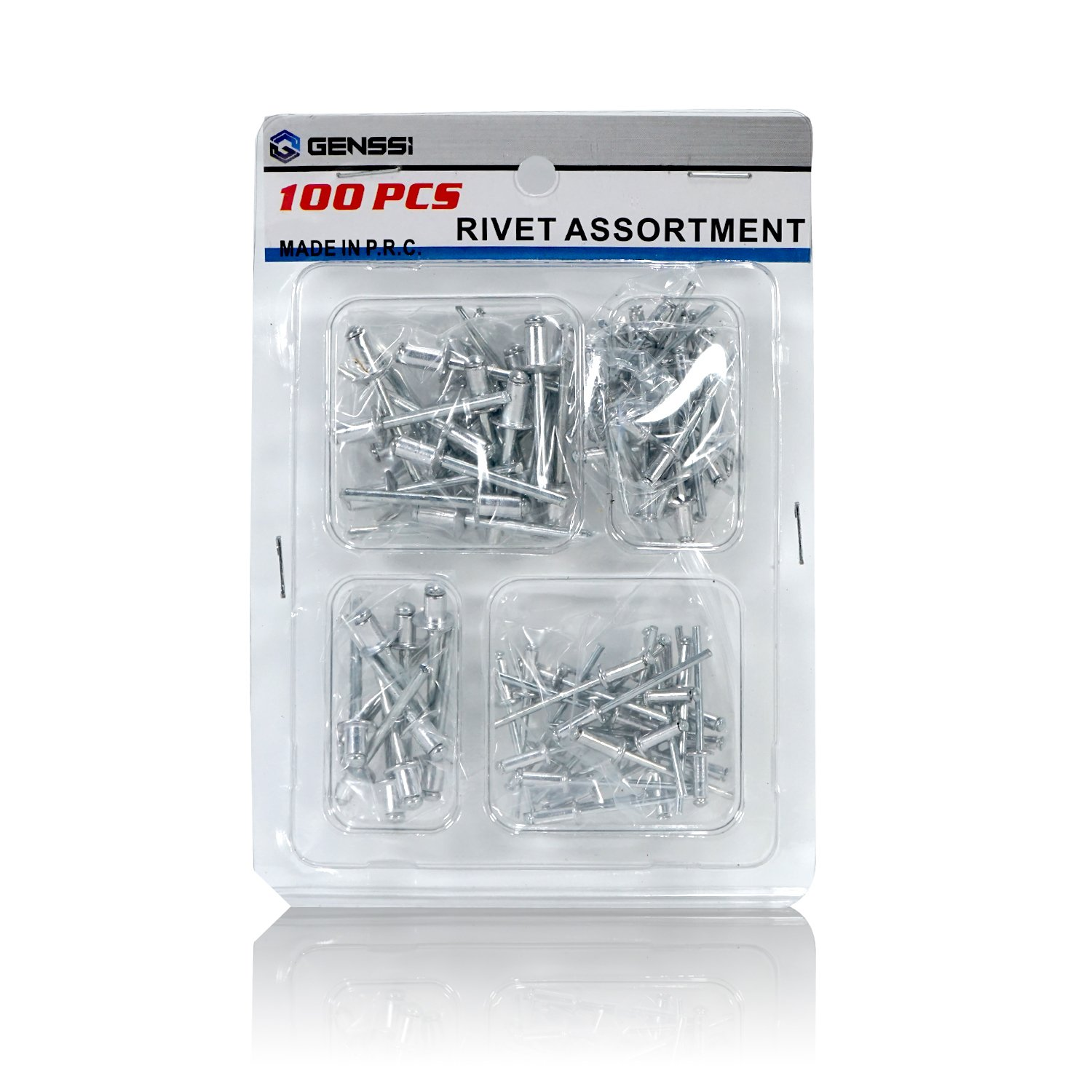 Pack of 100 Pop Riveter Aluminum Set Blind Rivets