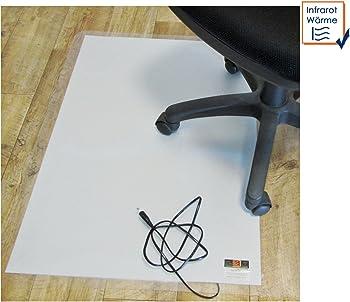 Bürostuhl auf beheizbarer Fußmatte