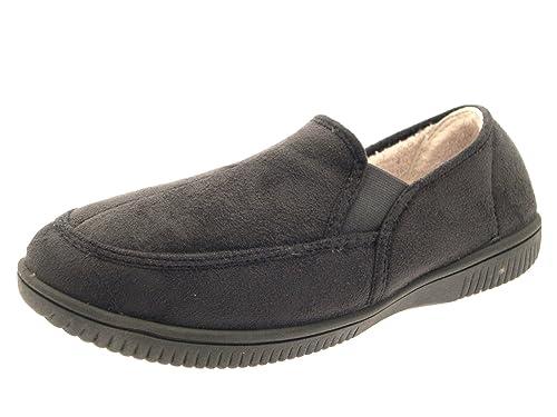 para Hombre (niños de Pelo con Forro Zapatillas Zapatos de Zapatillas/Mocasín Slip en