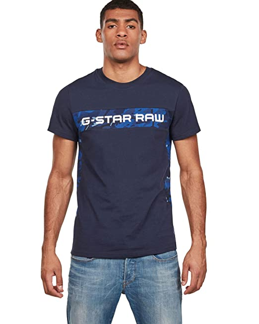 new images of official store exclusive range G-STAR RAW Graphic 7 Camiseta, Azul (Sartho Blue 6067 ...