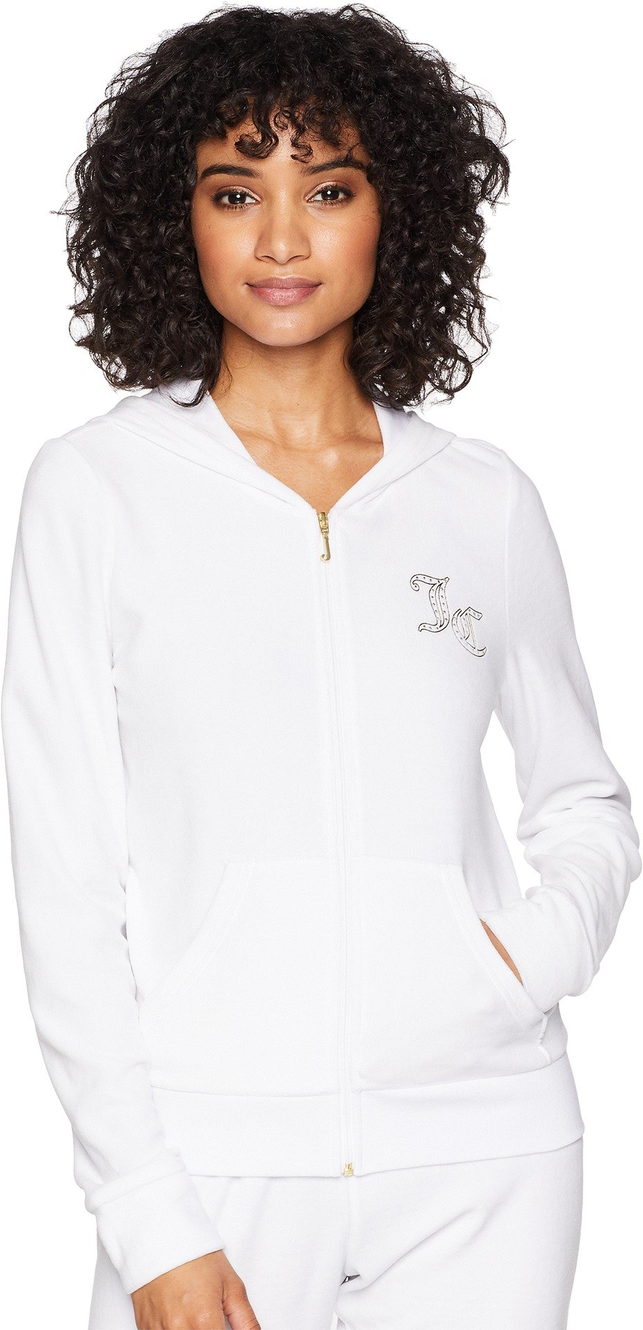 Juicy Couture Women's Robertson Jacket w/Gothic JC Logo White X-Small