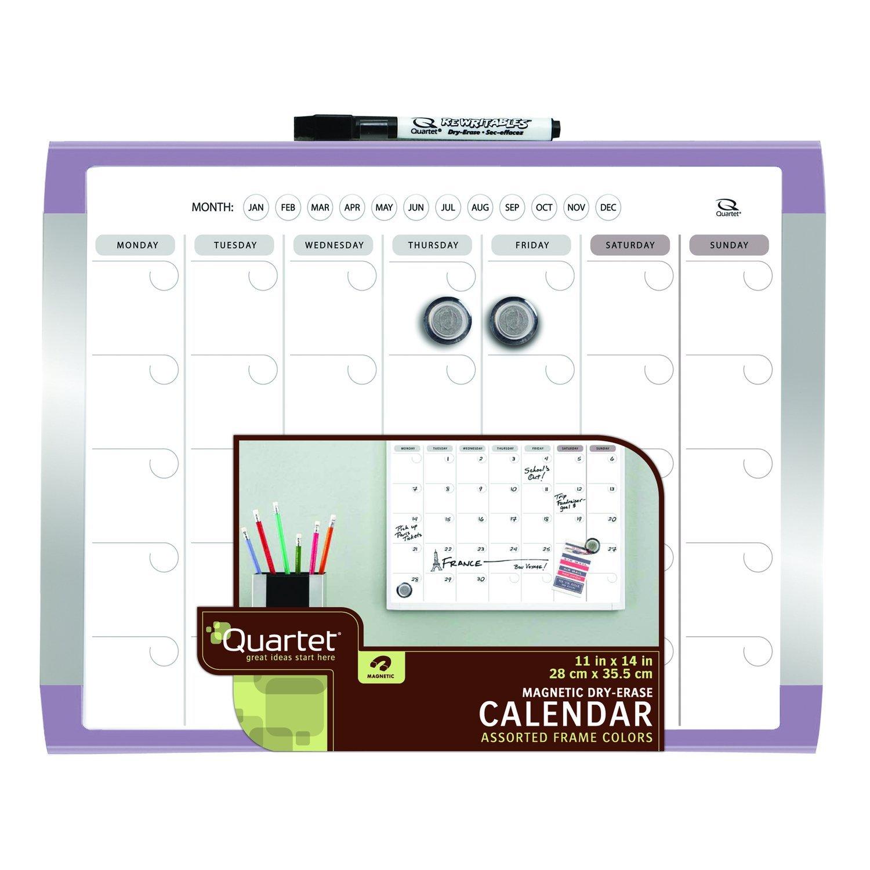 Amazon.com: 1 Mes Calendario y magnética de borrado en seco ...