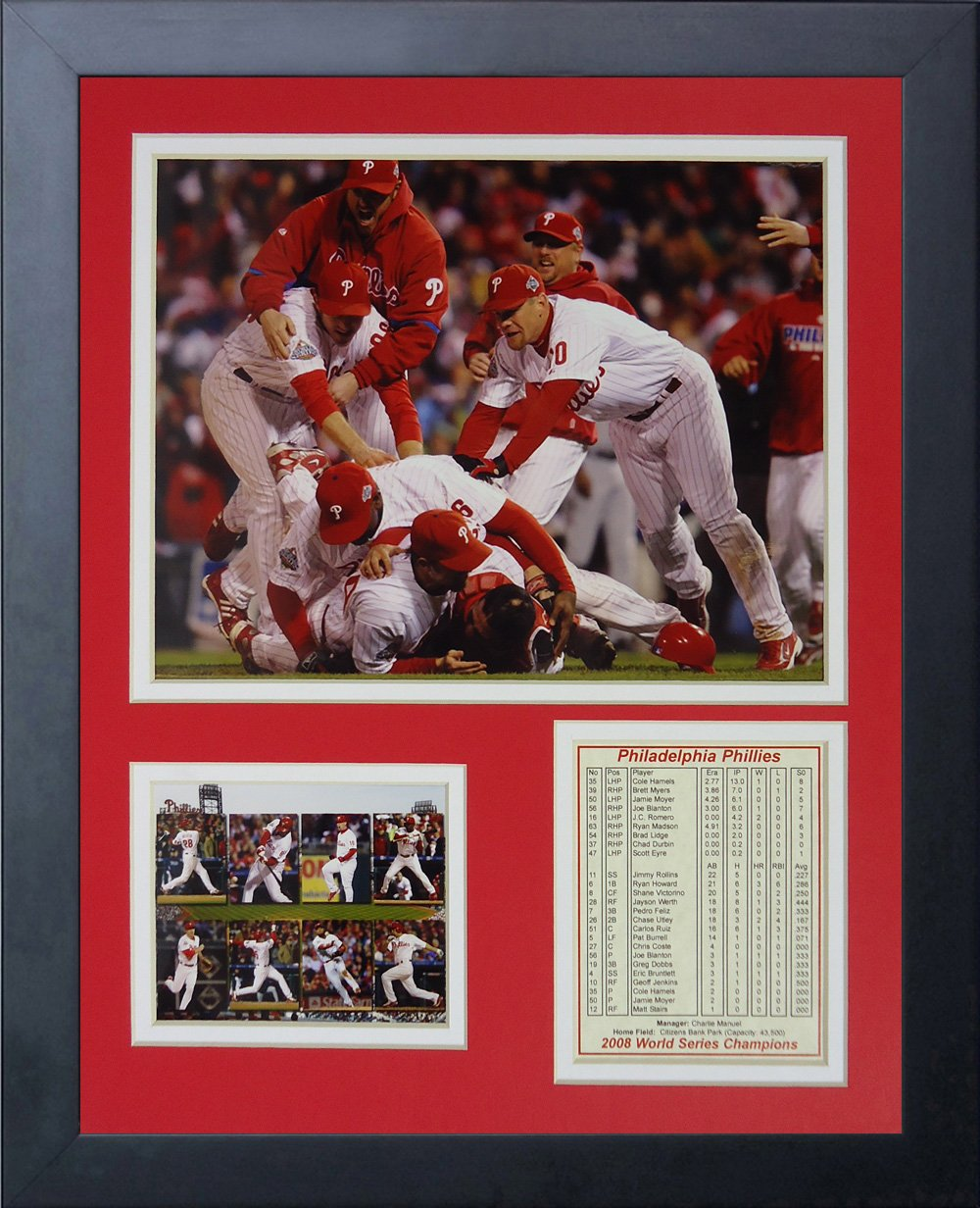 Legends Never Die ''2008 Philadelphia Phillies World Series Champions Framed Photo Collage, 11 x 14-Inch by Legends Never Die
