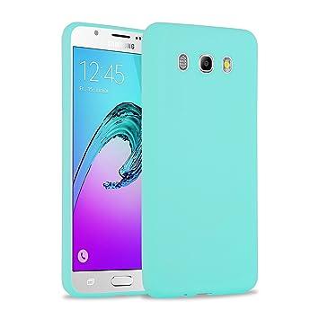 Funda Galaxy J7 2016, JAMMYLIZARD Carcasa TPU Ultra Fina Goma De Silicone [ Jelly Case ] Back Cover Case Para Samsung Galaxy J7 2016, TURQUESA