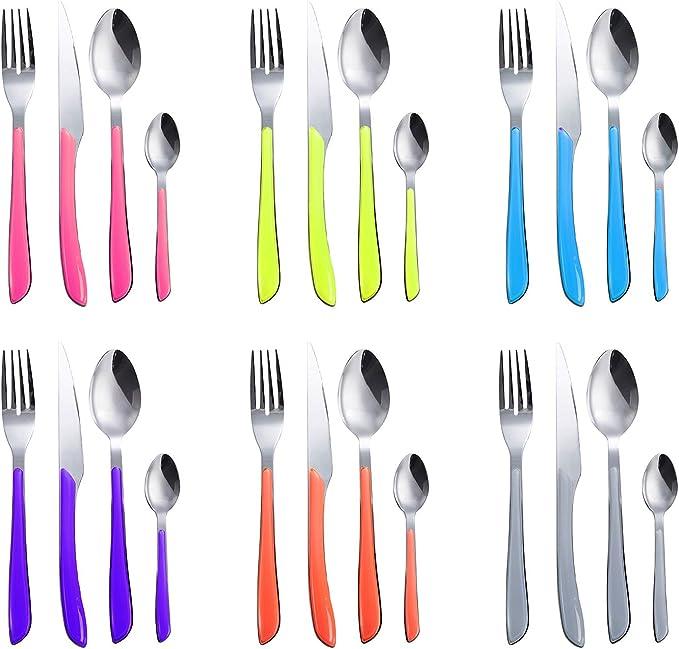 Flatware Toddler Spoon Safe Plastic Plastic Colorful Eating Training Eating BL