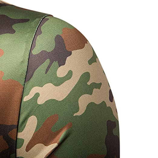 Amazon.com: MOSERIAN Summer Mens Top Fashion Casual Round Collar Camouflage Short Sleeve Top Blouse: Clothing