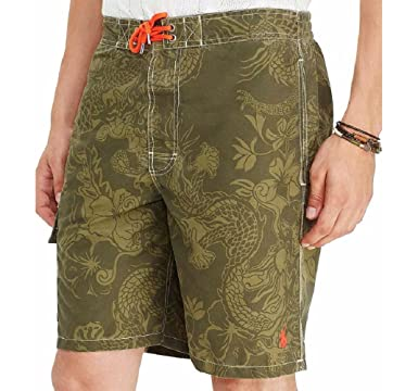 96e8193bd Ralph Lauren Polo Men s Printed 8-1 2 quot  Kailua Swim Trunks Board Shorts