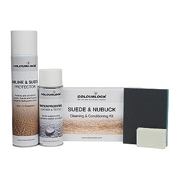 Colourlock Kit d entretien et de nettoyage pour daim et nubuck, pour vestes  et 3937e9cd1b9d