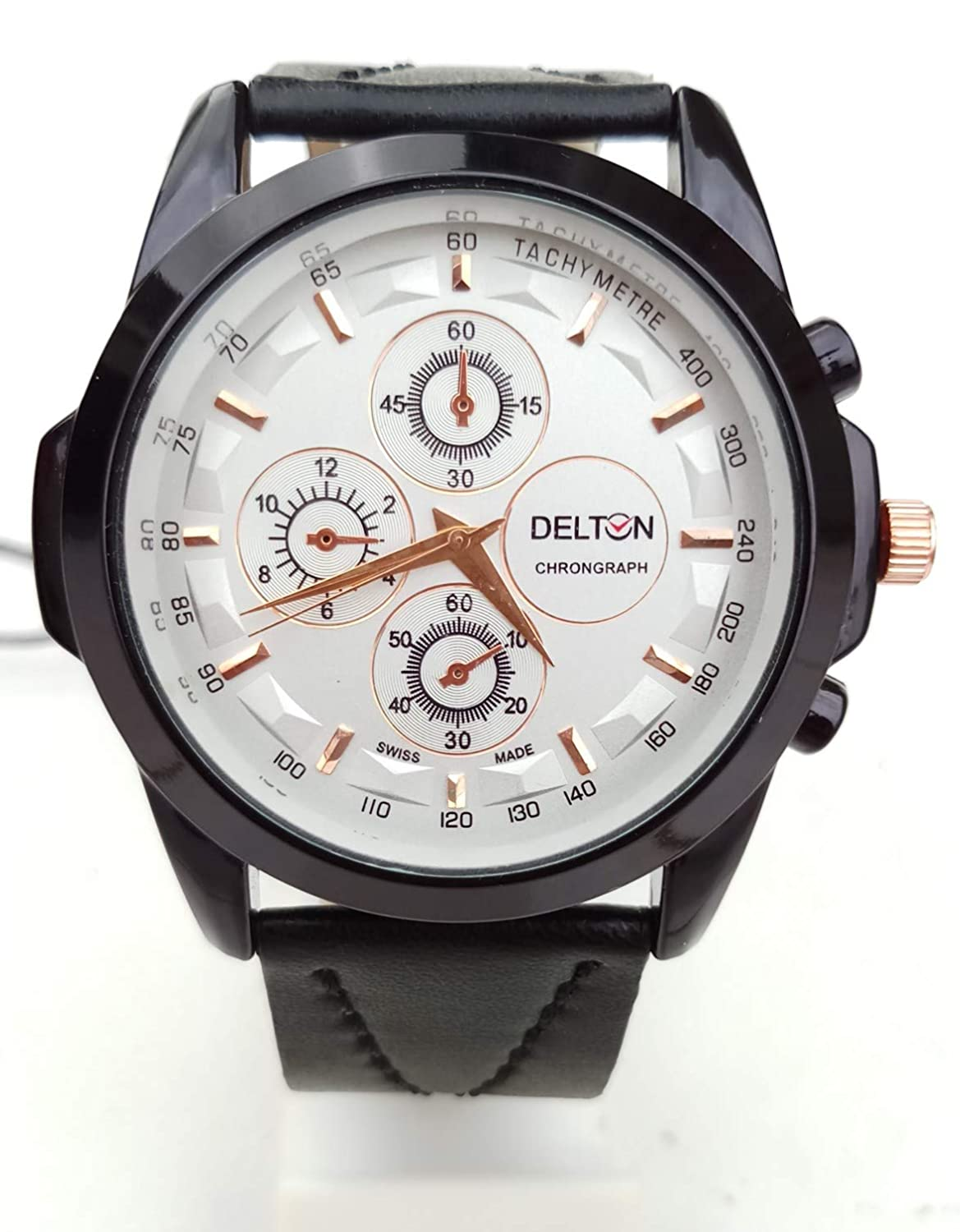 Buy Delton Analogue Black And White Dial Quartz Movement Men S Watch Online At Low Prices In India Amazon In