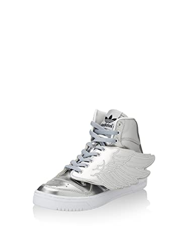 b63491f51d2d4 adidas Originals - Chaussure - Baskets Montantes Jeremy Scott Wings Metal -  Taille 40 - Argent