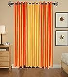 Shree Ram Decor Modern Polyester Crush Window Curtain 5ft- Set of 3 (2 Orange, 1 Yellow)