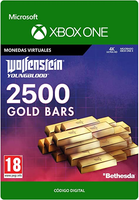 Wolfenstein: Youngblood 2500 Gold Bars | Xbox One - Código de ...