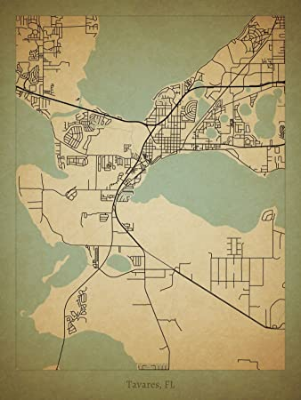 Tavares Florida Map.Amazon Com Tavares Fl Map Poster Posters Prints