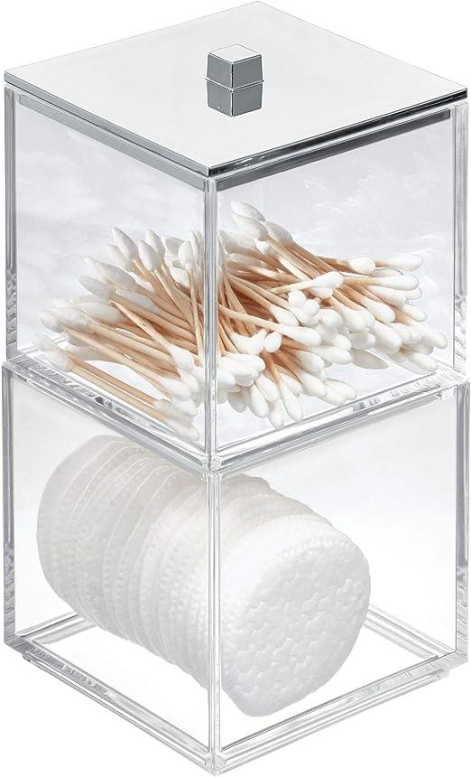 iDesign Clarity Organizador de Maquillaje con Tapa, Caja de ...