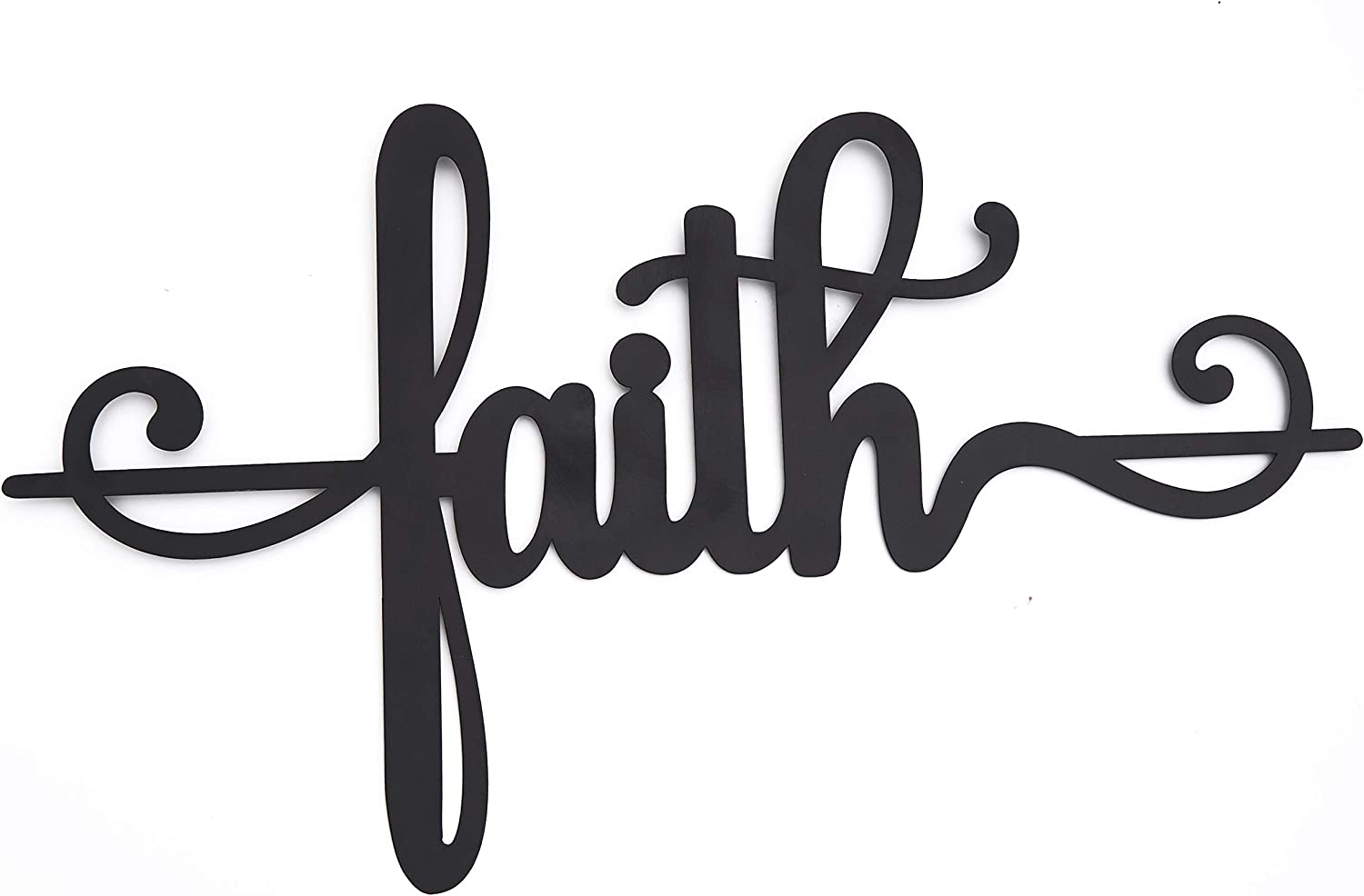 The Lakeside Collection Inspirational Metal Wall Hanging Religious Accent Words - Faith