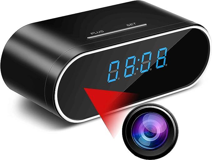 SSCJ Collar De Plata Oculta Mini DVR Grabador Cruz C/ámara Oculta 8GB HD 1080P