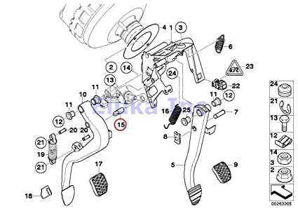 BMW Genuine Clutch Master Cylinder Pin - Master Cylinder To Clutch Pedal 320i 323Ci 323i 325Ci