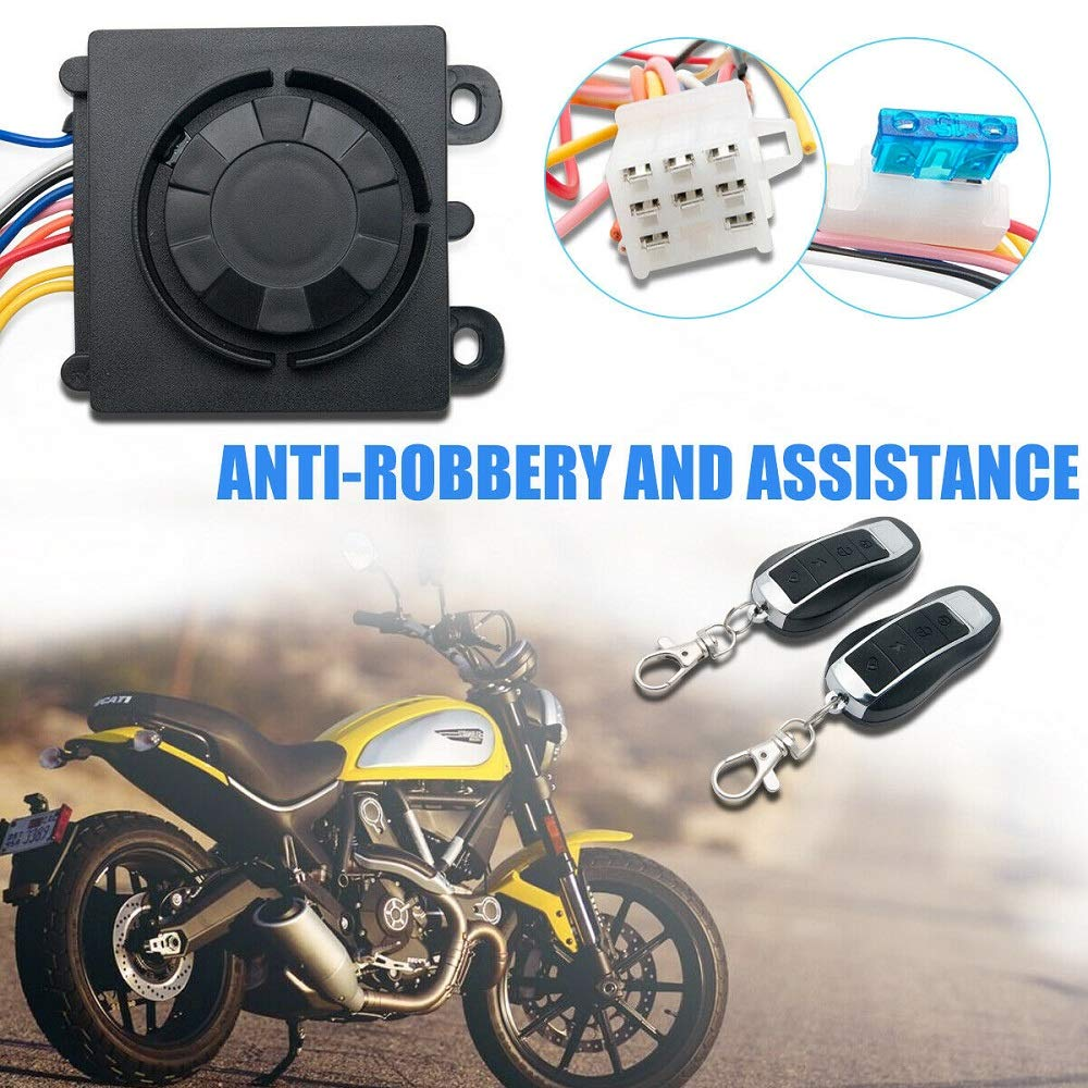 SUNWAN Motorcycle Alarm Security System Burglar Protection Systems Anti-theft Immobiliser Securities with Remote Control