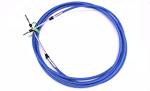 ABA-CABLE-18-GY Outboard Engine Remote Control Throttle Shift Cable 18ftfor Yamaha Boat Motor Steering System 5.486m Blue
