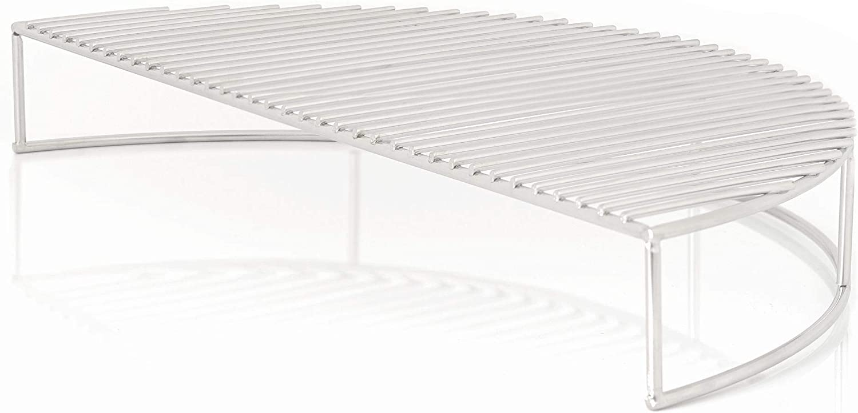 BBQ-Toro Rejilla para Conservación del Calor en Acero Inoxidable redonda | apta para Barbacoas Esféricas de Ø 57 cm | más superficie para parrilla con el soporte rack de extensión