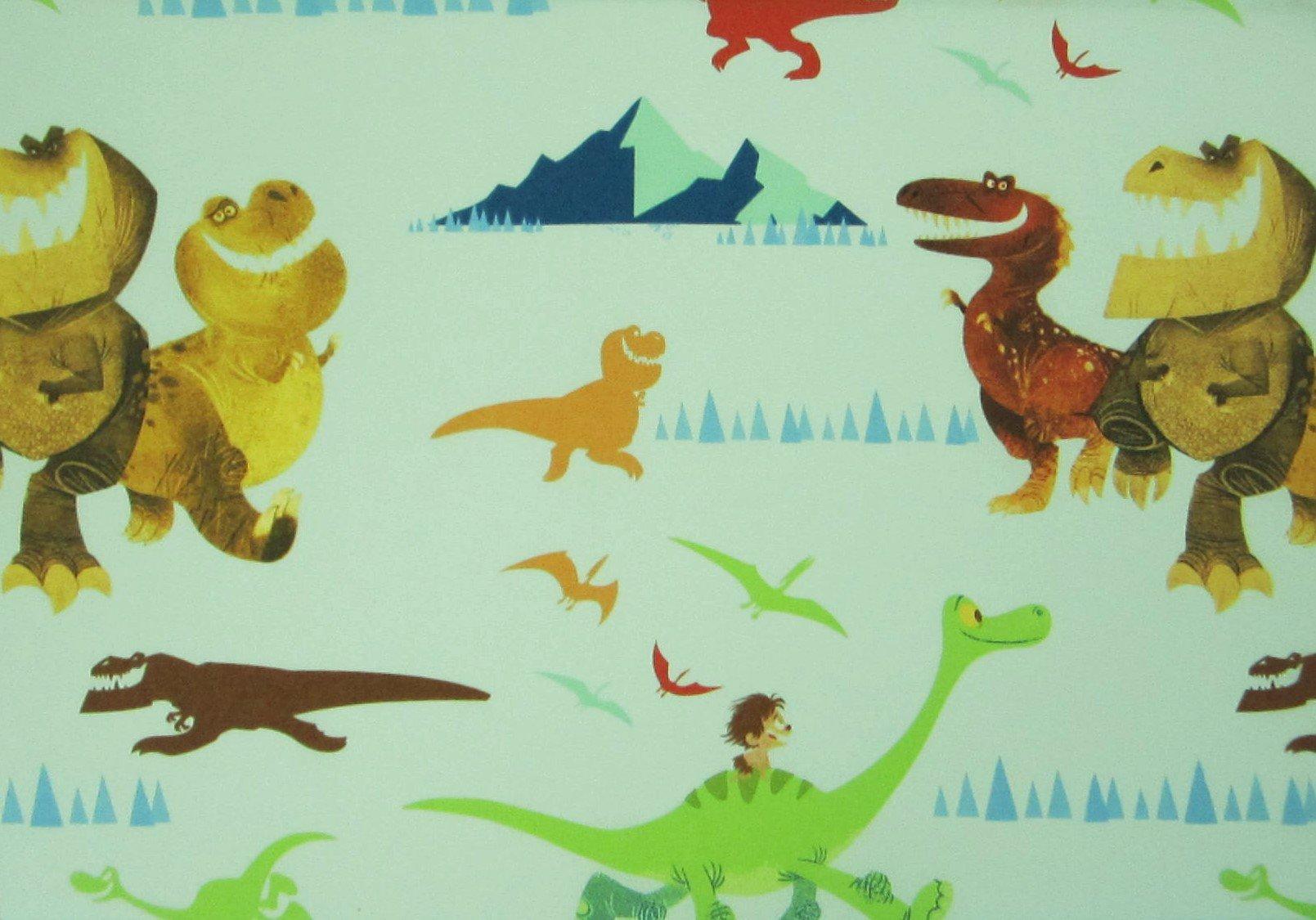 Good Dinosaur Adventure 60% Cotton (Flat Sheet ONLY) Size TWIN Girls Kids Bedding