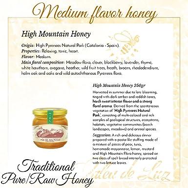 Pack de 3 botes de miel pura/cruda - formato 250gr. c/u; de: Lavanda, Carrasca y Flora Montana: Amazon.es: Alimentación y bebidas