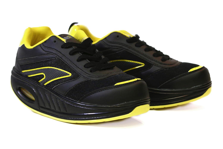 Fitness Step Black/Yellow (38): Amazon.es: Zapatos y complementos