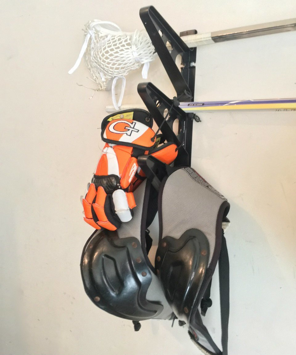 Lacrosse Stick Wall Storage Rack - Lax Sticks, Pads and Equipment Home & Garage Mount by StoreYourBoard (Image #3)